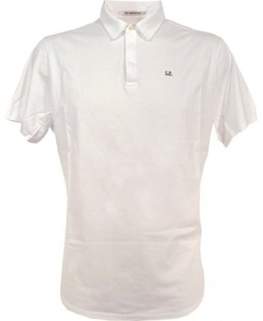 CP Company Mako Polo Shirt In White