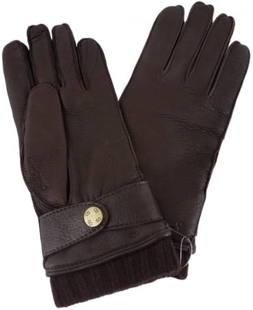 Maldini Dark Brown Leather Gloves