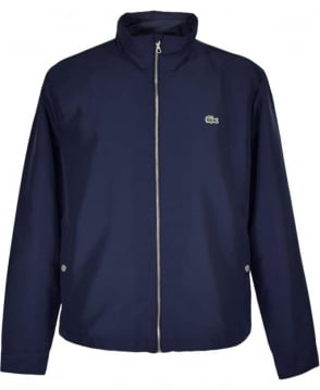 Lacoste Marine Blue BH2331 Hooded Zippered Jacket