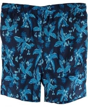Gant Marine Blue Jungle Print Classic Swim Shorts