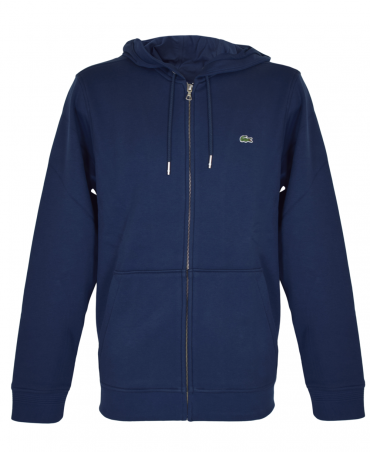 Marine Hooded Zipped Sweatshirt