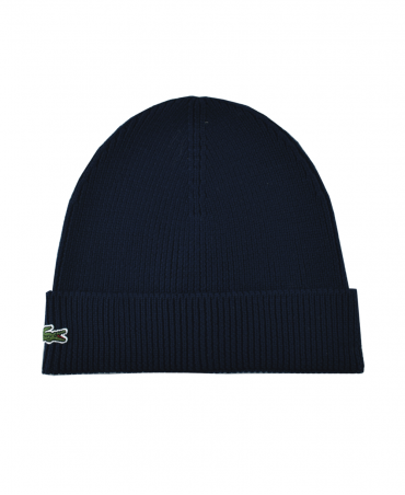 Lacoste Marine Ribbed RB3502 Beanie