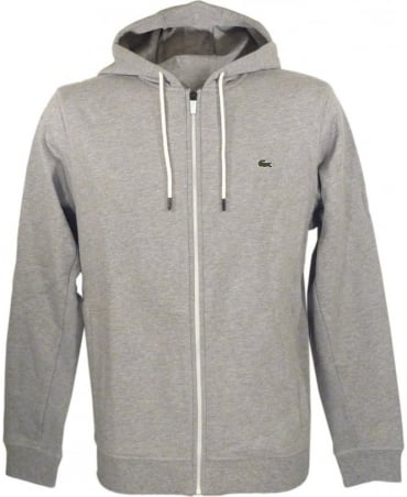Marl Grey SW5412 Contrast Zip Hooded Sweatshirt