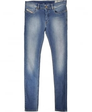 Diesel Medium Blue Sleenker 0681N Skinny Jean