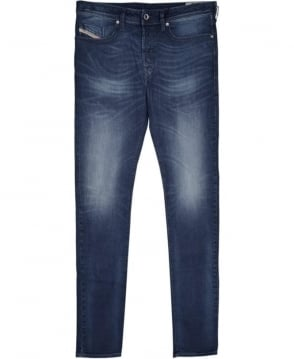 Diesel Medium Blue Tapered Buster Stretch Jeans