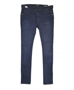 Replay Medium Dark Blue Hyperflex Anbass Slim Fit Jeans