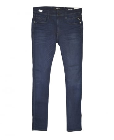 Replay Medium Dark Blue Hyperflex Anbass Slim Fit Jeans