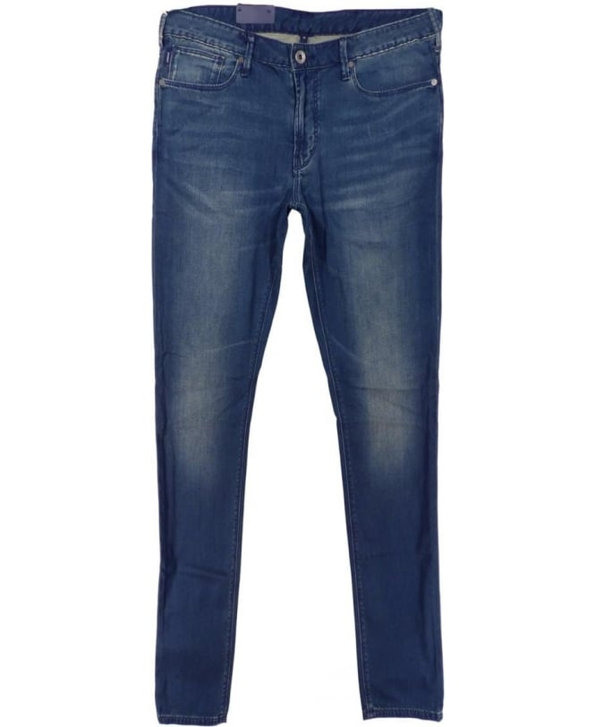 Armani Jeans Medium Wash Blue J06 Slim Fit Jeans