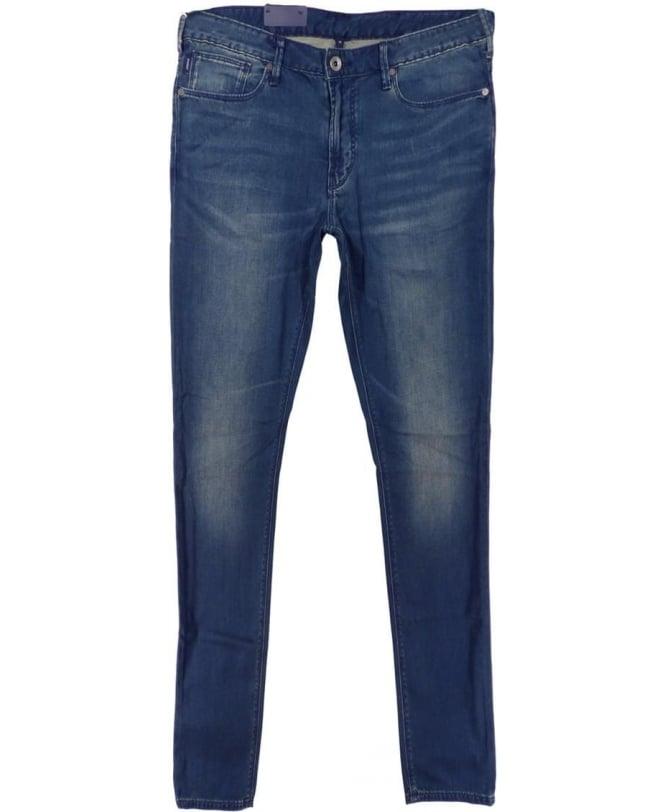 Armani Jeans Medium Wash Blue J06 Slim Fit Jeans
