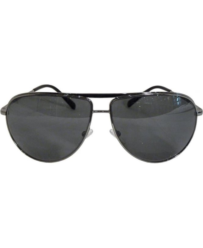 Armani Metal Aviator Frame Sunglasses