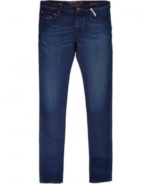 Jacob Cohen Mid Blue Hand Made Tailored Jeans