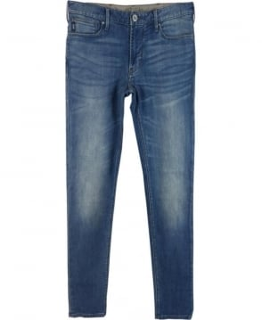 Armani Jeans Mid-Blue 'J06' Slim Fit Jeans
