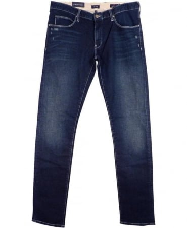 Armani Jeans Mid Blue J10 Extra Slim Fit Jeans
