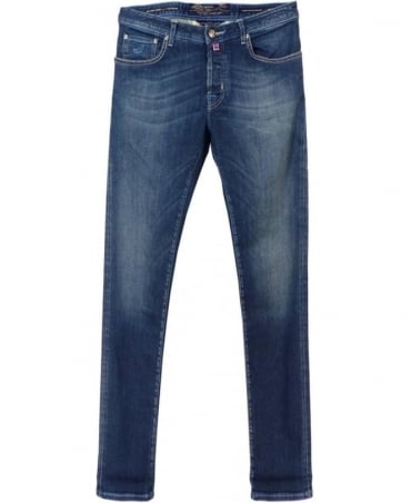 Jacob Cohen Mid Blue Limited Edition Handmade Italian Jeans
