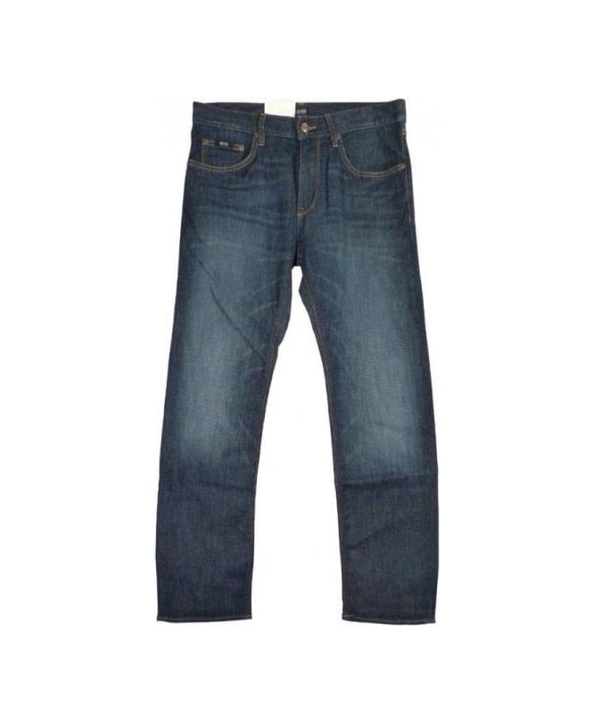 Hugo Boss Mid Blue Maine Regular Fit Jean