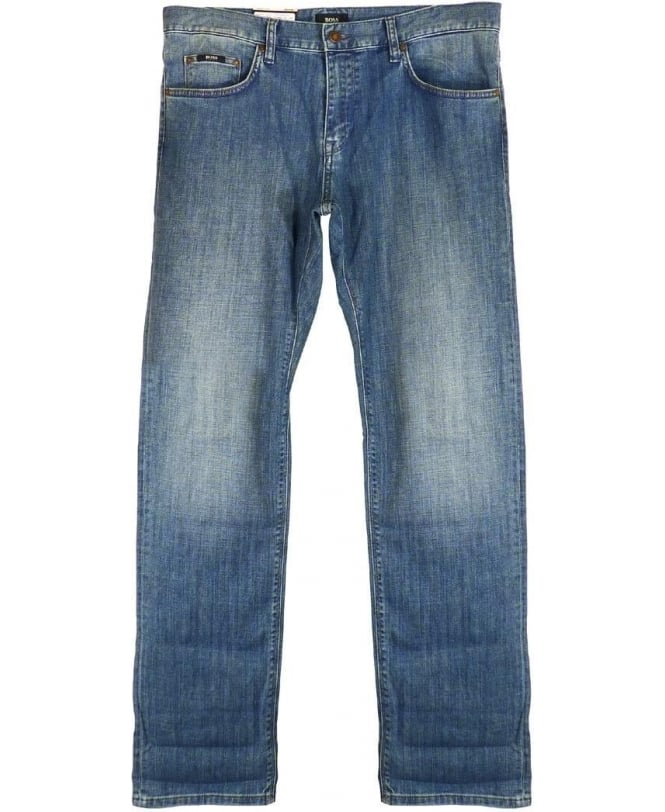 Hugo Boss Mid Blue Maine Regular Fit Jeans