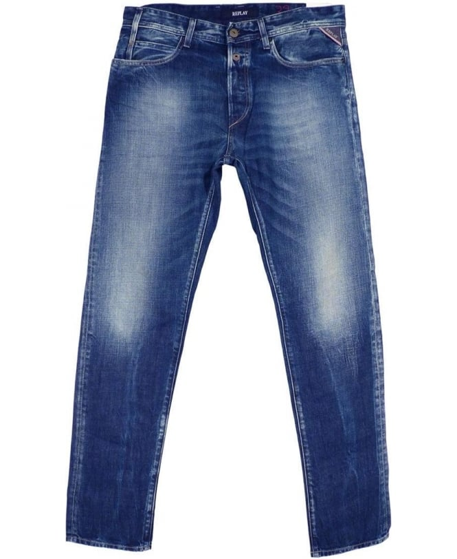 Replay Mid Blue RBJ.901 Tapered Fit Jeans