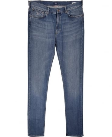 Gant Mid Blue Regular Straight Jean