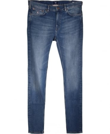Gant Mid Blue Worn In 1315009 Regular Straight Jean