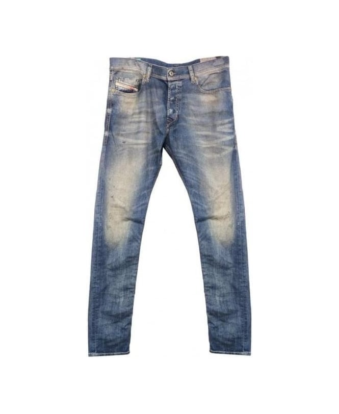 Diesel Mid Wash Distressed Tepphar 0813W Jeans