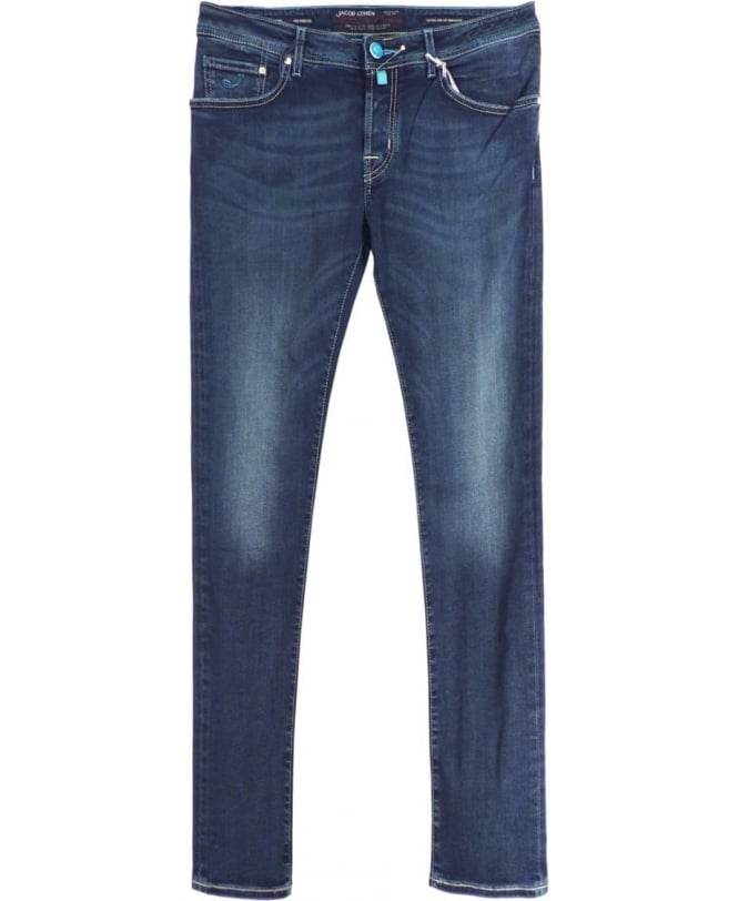 Jacob Cohen Mid Wash J622 Handmade Stretch Jeans