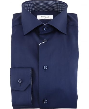 Eton Shirts Midnight Blue Slim Fit Shirt