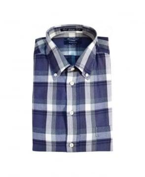 Gant Military Blue W.N. Loch Melange Twill Shirt