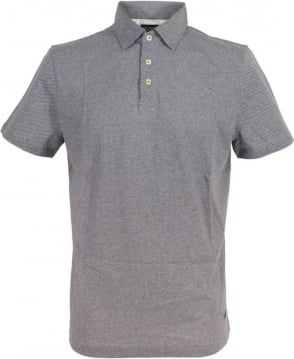Hackett Minute Dot Print Polo Shirt In Grey