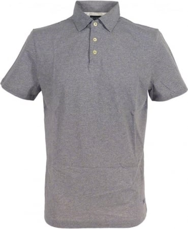Minute Dot Print Polo Shirt In Grey