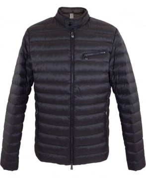 Hackett Moto Down Jacket In Charcoal