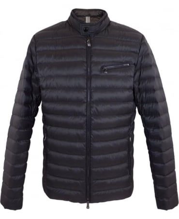 Moto Down Jacket In Charcoal