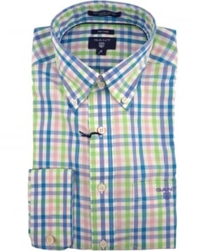 Gant Multi Colour Check Oxford Button Down Shirt