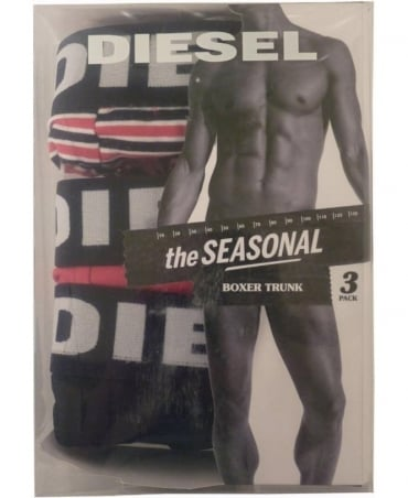 Diesel Multi Colour Shawn Three Pack Boxer