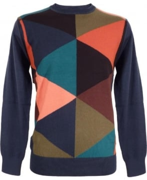 Paul Smith  Multi Coloured Block Wool Blend Jumper