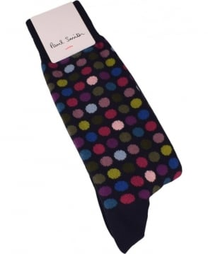 Paul Smith  Multi Coloured Polka-Dot Socks