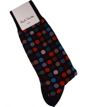 Paul Smith  Multi Coloured Polka Dot socks
