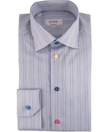 Eton Shirts Multicolour Striped Twill Shirt
