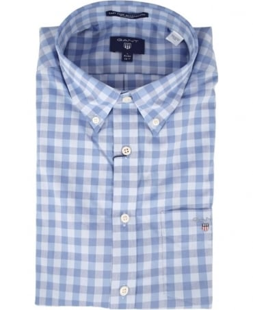 Nautical Blue Gingham Easy Care 303400 Shirt