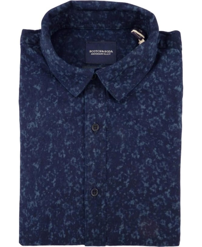 Scotch & Soda Navy 100026 All Over Pattern Shirt