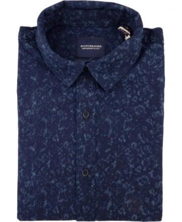 Scotch & Soda Navy 100026 All Over Pattern Shirt