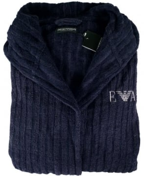 Armani Navy 110799 Hooded Bathrobe