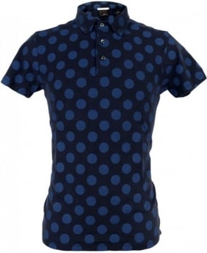 Scotch & Soda Navy 127236 Large Spot Polo