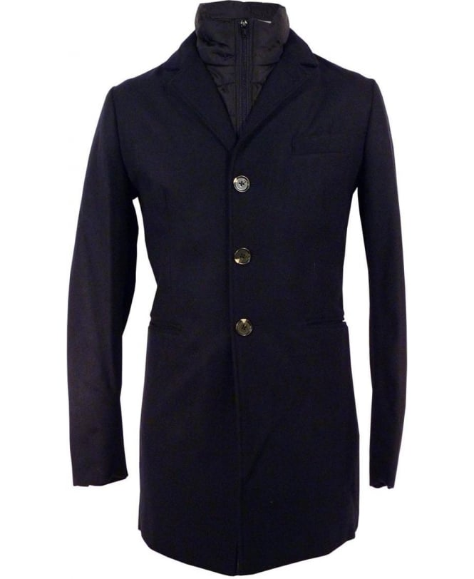 Scotch & Soda Navy 127961 Removable lining Coat