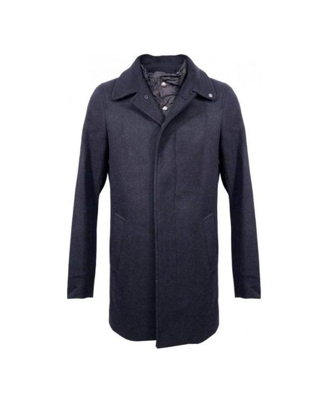 Scotch & Soda Navy 13040811019 Single Breasted Coat