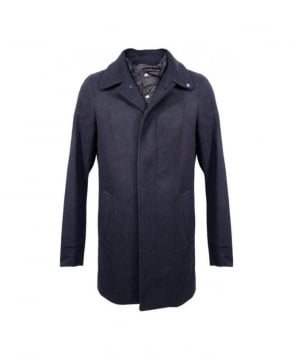 Scotch & Soda Navy 13040811019 Single Breasted Coat