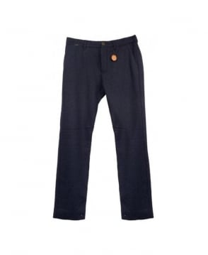 Scotch & Soda Navy 13040880011 Slim Fit Wool Trouser