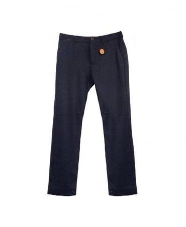 Scotch & Soda Navy 13040880011 Slim Fit Wool Trouser