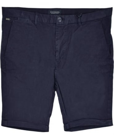 Scotch & Soda Navy 13632 Medium Length Chino Shorts