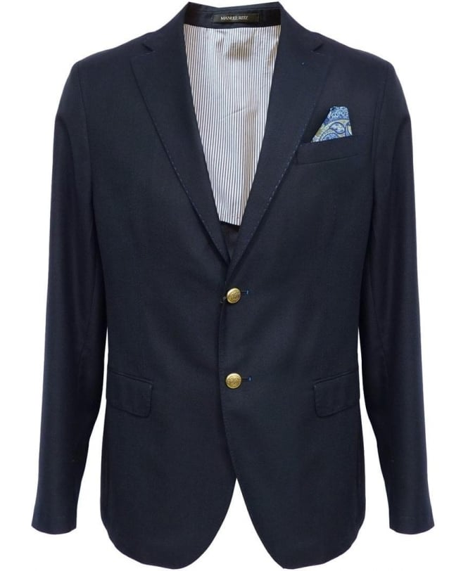 Navy 143109 Two Button Jacket
