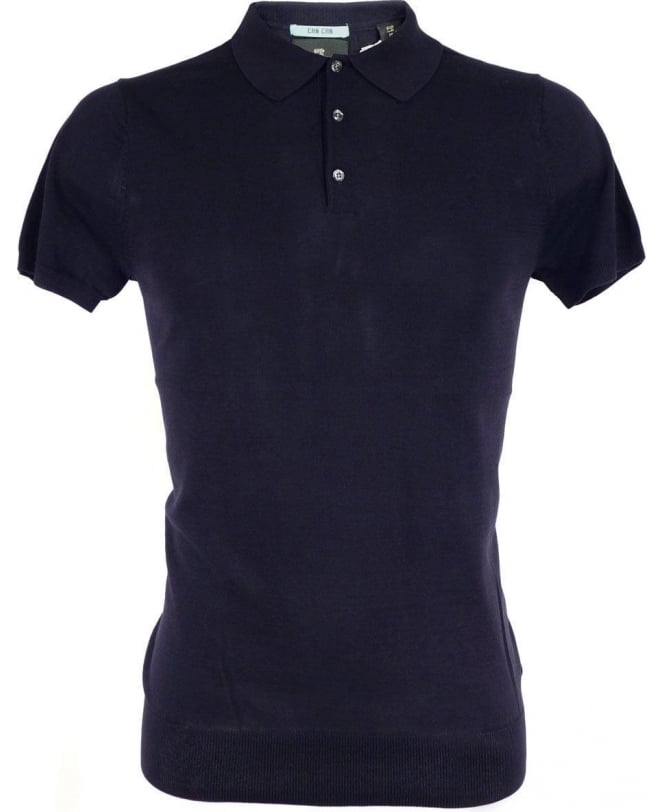 Scotch & Soda Navy 1501-03.60009 Three Button Knitted Polo
